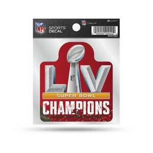 """Tampa Bay Buccaneers 2020-2021 Super Bowl LV Champions Decal (4""""x4"""")"""