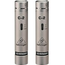 Pair of Behringer C-2 Condensor Cardoid Studio Recording Microphones