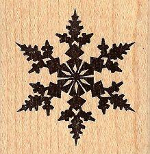 Medium Fancy Winter Snowflake, Wood Mounted Rubber Stamp JUDIKINS - New, 3073D