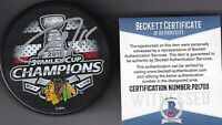 BECKETT ANDREW SHAW SIGNED 2015 CHICAGO BLACKHAWKS STANLEY CUP CHAMPIONS PUCK 03