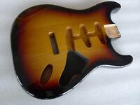 3 Pieces North American Alder Strat SSS Stratocaster Guitar Body 3 Tone Sunburst