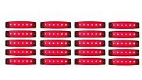 20x 24V ROT 6 LED Leuchte E9 Begrenzungsleuchte LKW Positionsleuchte