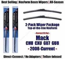 2-Pack NeoForm Wiper Blades fits 2008-2018 Mack CHU CXU GU7 GU8 - 16200x2
