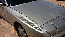 "PORSCHE 944 TURBO  M501 OPTION CODE "" TURBO "" DECAL FOR FENDER BLACK NEW GENUINE"