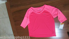 Nwt C9 Champion duo dry max 3/4-Sleeve pink Dance/work out Top Size L 10/12