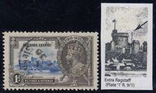 "Sierra Leone, SG 181a, used ""Extra Flagstaff"" variety"