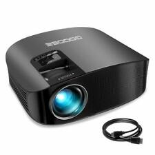 """Projector, GooDee Upgraded 4500 Lumens Video Projector 200"""" HD LCD Home Cinema"""