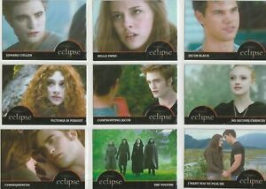 Twilight Saga Eclipse New Moon Series 1 Promo Card Set EC-PR 01 - EC-PR 10