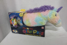 New NIB Glow Pet Rainbow Unicorn Pillow nightlight super soft