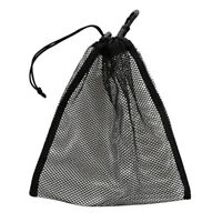 Drawstring Mesh Carry Bag for Scuba Diving Gear Golf Ball Table Tennis Black