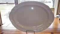 """Pfaltzgraff 14"""" White Oval Serving Platter Tray Gazebo White USA made"""
