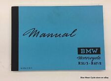 BMW Owners Manual R51/3-R67/2 (some R68 info) motorcycle bike