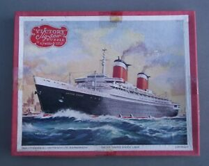 VICTORY JIGSAW - SS UNITED STATES LINER WOODEN JIGSAW PUZZLE
