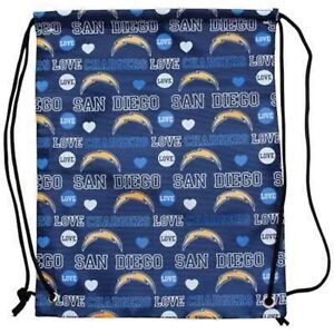 NFL San Diego Chargers Love Mural Drawstring Backpack
