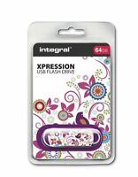 Integral USB 2.0 Expression Flash Drive - 64GB BIRD INFD64GBXPRBIR