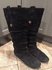 UGG Austrailia Black Leather Mid Calf Soft Boots Shoe #SN 5765, Women Sz 8