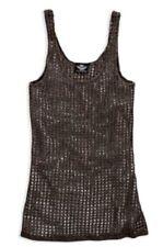 Genuine Harley-Davidson Ladies Metallic Open Knit Vest, 96096-16VW, X-Large, XL