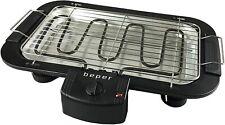 Beper BT.403 Barbecue Elettrico con Doppia griglia, Nero