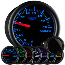 52mm GLOWSHIFT SMOKED 7 COLOR LED VOLTAGE VOLT GAUGE METER KIT