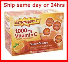 Emergen-C Vitamin C 1000mg Super Orange Immune Support 30 Pack Fast Free Ship