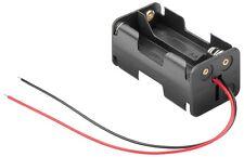 S633 - 2 Stück Portabatterie 4x Mignon AA Batteria batteria aperti con cavo