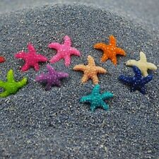 20X Mixed Color Resin Starfish Decoration Mini Flat Back Starfish for Landscape