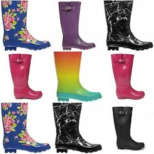 Kangol Tall Wellington Boots Wellies Ankle Rain Mucker High Calf Womens/Girls