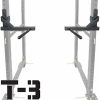 "Titan T-3 Series Dip Attachment Bars for 2""x3"" HD Power Rack Strength Training"