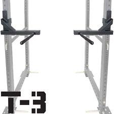 "Titan T-3 Series Dip Attachment Bars for 2""x3"" HD Power Rack Strength Training"