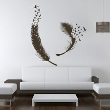 Peacock Bird Feather Wall Decal Inspiration Vinyl Removable Child Room Art Decor