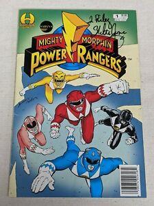 Saban's Mighty Moprhin' Power Rangers #1 1994 Card SIGNED Walter Emanuel Jones