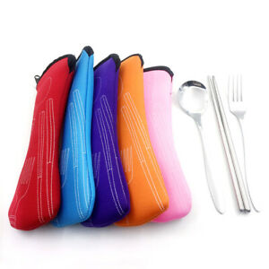 Cutlery Bag Knife Fork Bags Case Portable Picnic Travel Camping Storage Soft