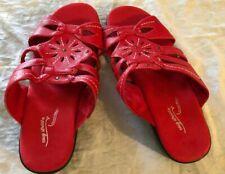 Women's Easy Street Comfort Wave Red sandals slip on Size 10 WW slip on new