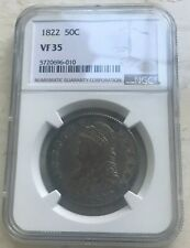 1822 Capped Bust Half Dollar - Certified NGC VF35 - Nice Color