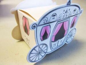 50 Pink Carriage Baby Shower/Birthday/Wedding Party Favor Gift Box G-Princess