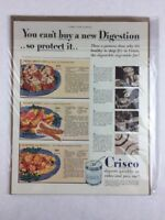 Vintage Crisco Vegetable Fat Health Food Art Print Collectible Ad 10.5 x 14
