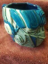 Transformers Optimus Prime Face Universal Studios Blue Large Ceramic Mug.
