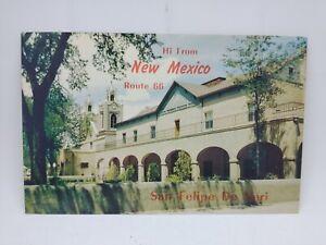 Vintage Hi From New Mexico Route 66 San Felipe De Neri Postcard Old Town