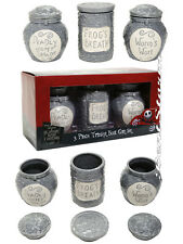 Disney Nightmare Before Christmas 3Pc Potion Ceramic Jar Trinket Box Gift Set