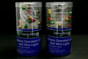 2 pack 6 feet count Bell wire  Merry Brite Battery operated LED lights