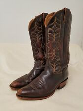 Justin Boots For Fossil Womens Size 9 Jacinto Brown Cowboy Western Leather Tall