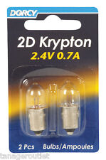 Dorcy 41-1660 Krypton Replacement Flashlight Bulb, 2.4 V, 0.7 A,
