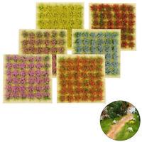 72 Stück Flower Cluster Grass Sandtisch Wargame Diorama Railway Tufts Static DIY