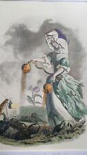 Illustration de Grandville - Fleurs Animées - Pavot -