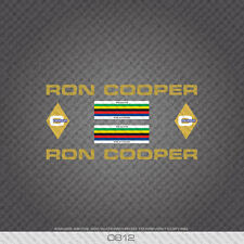 0812 Ron Cooper Bicycle Stickers - Decals - Transfers - Gold