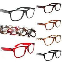 Classic Oversized Fashion Large Retro Reading Glasses Choice of 6 Colours TN49