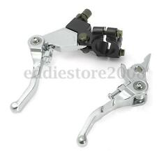 Pair Chrome Alloy Folding Clutch Brake Lever Set Pit Dirt Bike 110/125/140/160cc