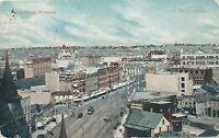 WINNIPEG MAN – Main Street Glitter Covered Postcard - 1907