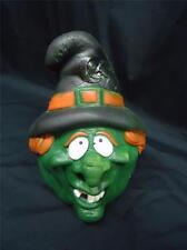 Vtg HALLOWEEN Foam Witch Head Toy 80s Dimestore Decoration Dan Dee International