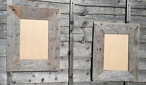 1 Grey Rustic Recycled Wood Driftwood Picture Canvas Photo Frame Christmas gift